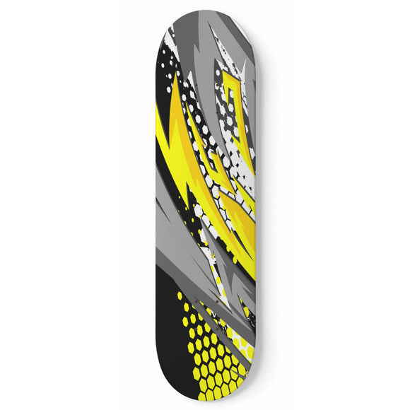 Racing Style Yellow & Grey Vibe Skateboard Wall Art