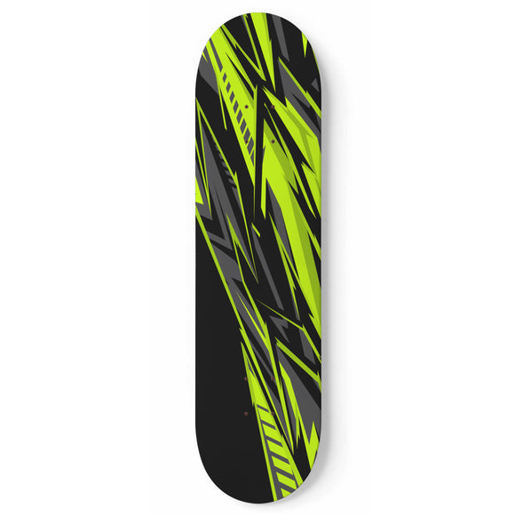 Racing Style Black & Neon Green Vibe Skateboard Wall Art