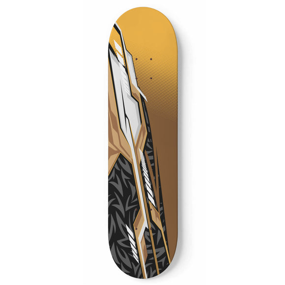 Racing Style gold & black Vibe Skateboard Wall Art