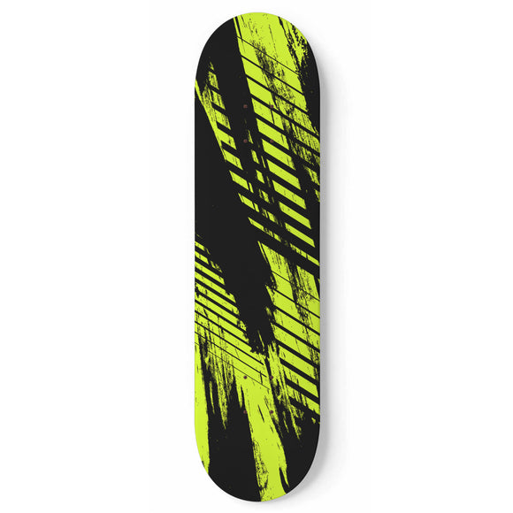 Racing Urban Style Lime Green & Dark Black Vibes Skateboard Wall Art