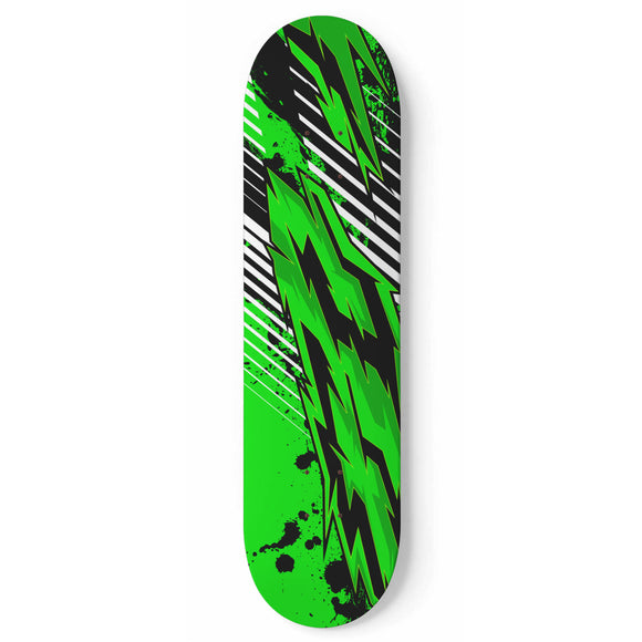 Racing Style Funky Green & Black Vibes Skateboard Wall Art