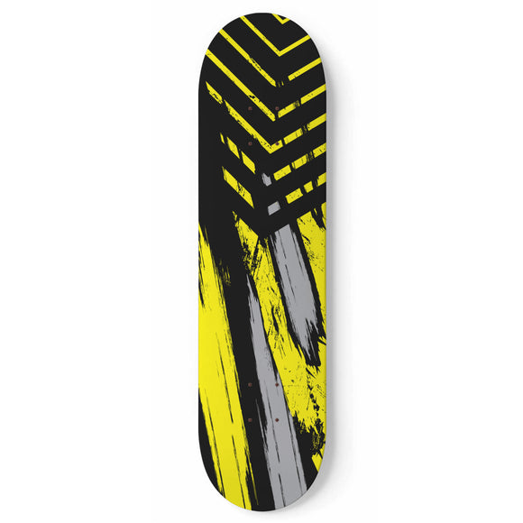 Racing Urban Style Yellow & Black Vibes Skateboard Wall Art