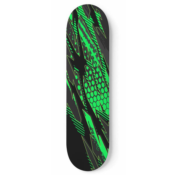 Racing Style Matrix Green & Dark Black Vibes Skateboard Wall Art
