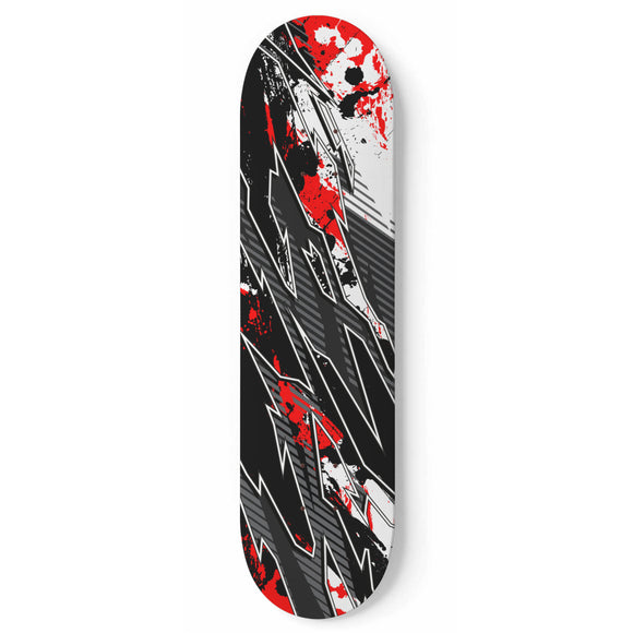 Racing Bloody Style Red & Dark Black Vibes Skateboard Wall Art
