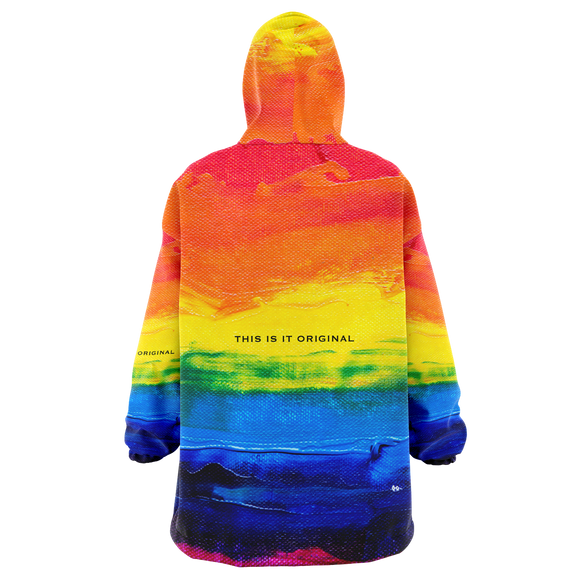 Painted Stylish Art Camouflage Pride Colorful Design XXL Oversized Snug Hoodie