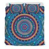 Blue Ornamental Style Mandala Bedding Set
