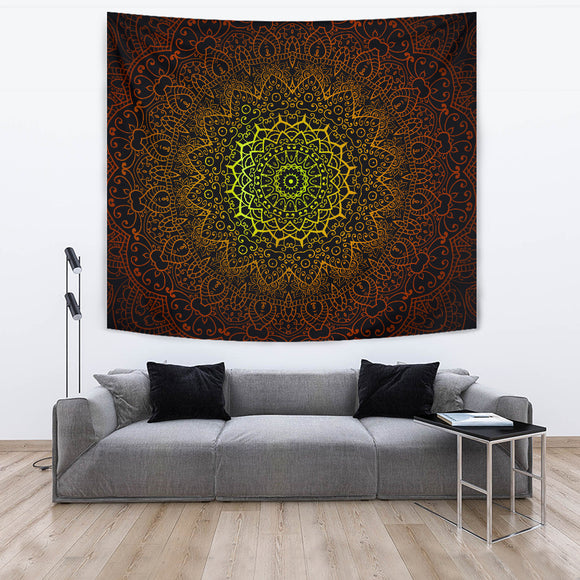 Celtic Flower Radiance Tapestry