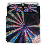 Neon Roundabout Design Bedding Set