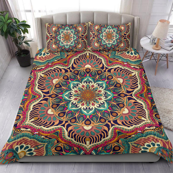 Colorful Ornamental Style Mandala Two Bedding Set