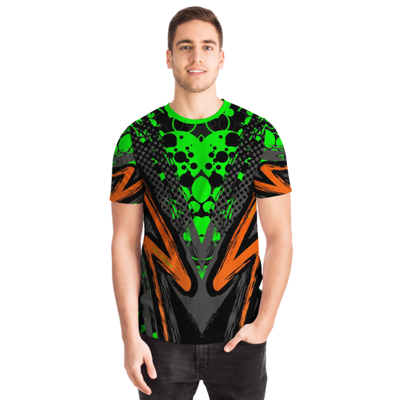Special Racing Black Edition With Green Neon Bubbles Design T-shirt