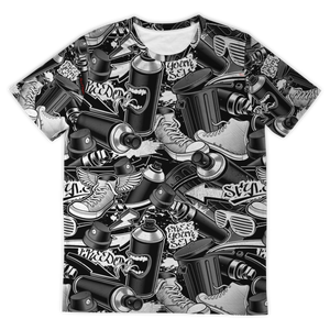 Black & White Graffiti Design Street Wear Young Generation T-Shirt