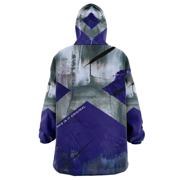 Painted Stylish Art Camouflage Violet & Grey Colorful Design XXL Oversized Snug Hoodie