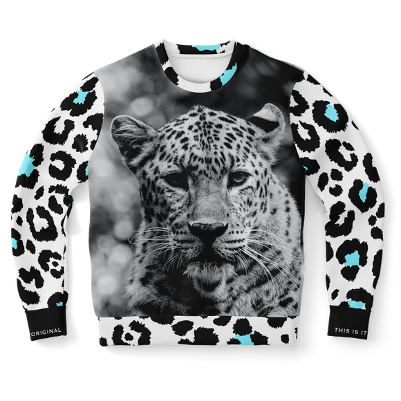 Exclusive Black & White Leopard Design Sweatshirt