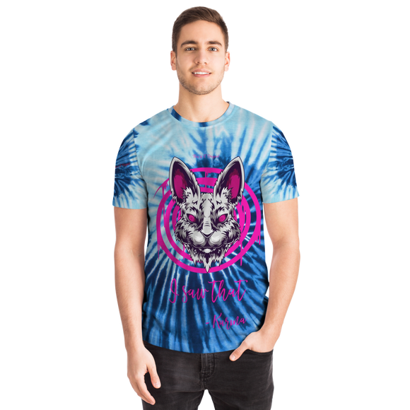 Psycho Rabbit - I Saw That - Karma - Light Blue Tie Dye Geometric Design T-shirt