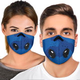 Blue Colorful Army - Camouflage Design Premium Protection Face Mask