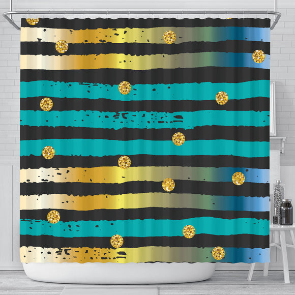 Luxury Neon Strips Shower Curtain