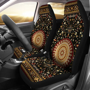 Luxury Ornamental Persian Style 2 Pair Of Car Seat Covers