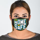 Stay Home Stay Safe Light Blue Design Protection Face Mask