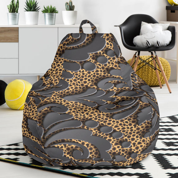 Royal Black Bean Bag Chair