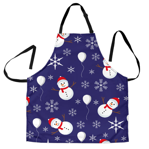 Christmas Blue Good Vibes Only Women's Apron