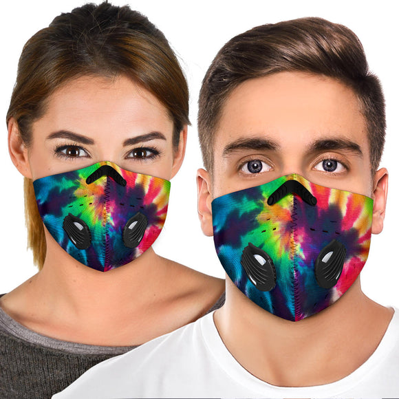 Colorful Rainbow Tie Dye Style Premium Protection Face Mask