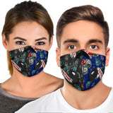 Tattoo Studio Design In Deep Blue & Black Vibes Premium Protection Face Mask