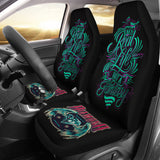 Black Tattoo Diamond Design with Quote Car Seat Covers