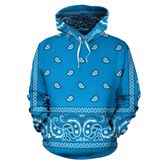 Ocean Blue Bandana Style All Over Hoodie