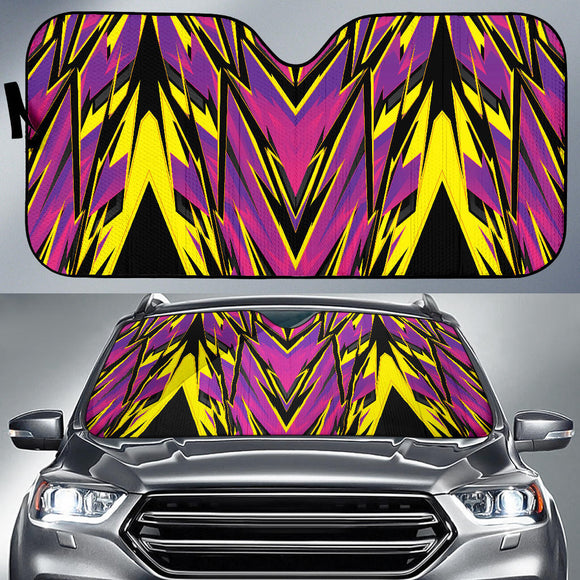 Racing Style Purple & Pink Vibes Auto Sun Shades