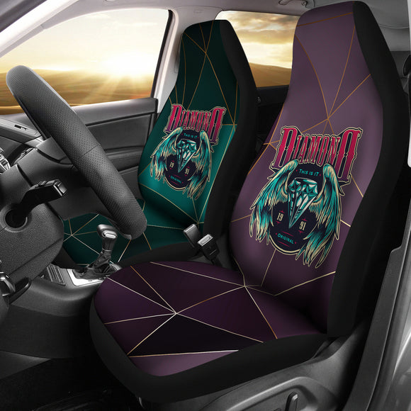 Lovers Diamond Design with Diamond & Angel Wings Car Seat Covers