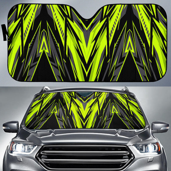 Racing Style Neon Green & Black Vibes Auto Sun Shades