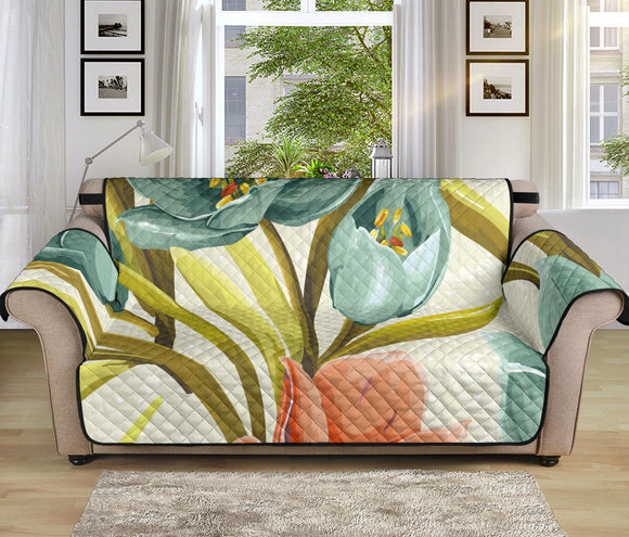Lovely Flowers 70'' Sofa Protector