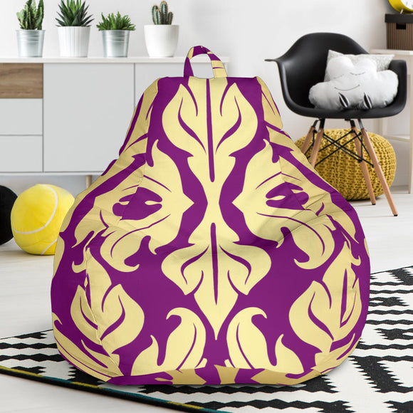 Purple Baroque Bean Bag Chair