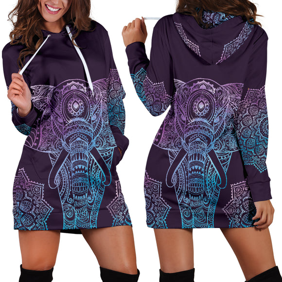 Violet Elephant Women's Hoodie Dress