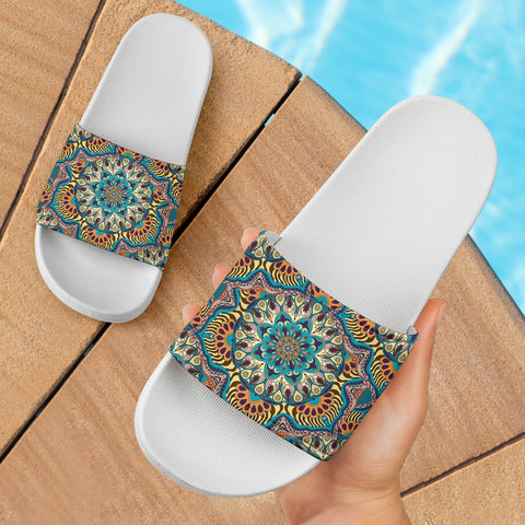 Luxury Summer Mandala Slide Sandals