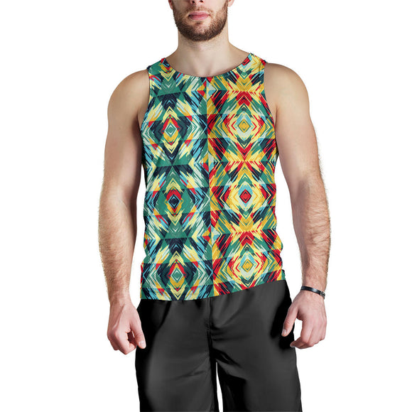 African Geometric Design 2 Men's Tank Top