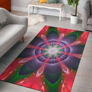 Psychedelic Style Mandala Design Four Area Rug
