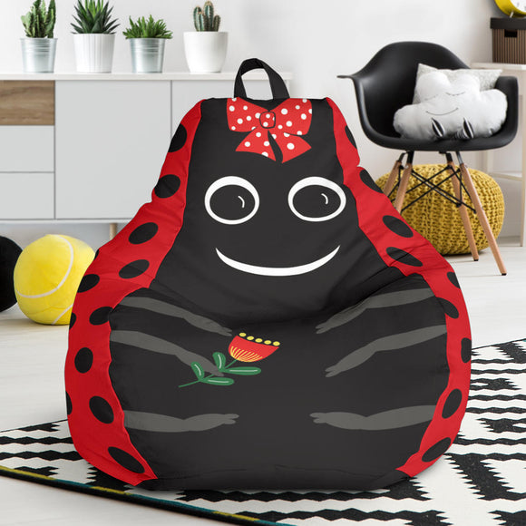 Kid's Red Ladybug Bean Bag Chair