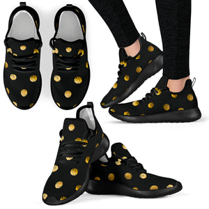 Luxury Golden Dots Mesh Knit Sneakers