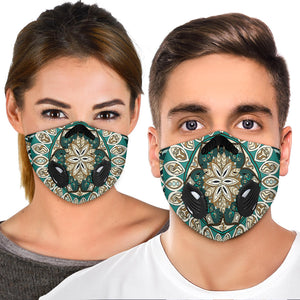 Green Special Mandala Design Premium Protection Face Mask