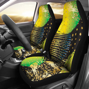 Energizing Neon Dots Car Seat Cover