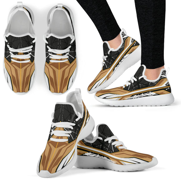Racing Style Brown & Black 2 Mesh Knit Sneakers