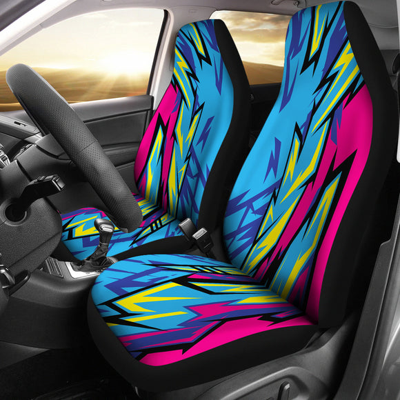 Racing Style Blue & Pink Vibes Car Seat Covers