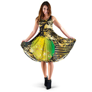 Energizing Neon Dots Women's Dress