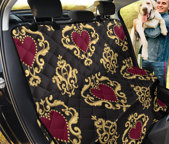 Luxury Royal Hearts Pet Seat Cover