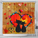 Cats Truly In Love Shower Curtain