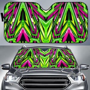 Racing Style Neon Green & Pink Vibes Auto Sun Shades