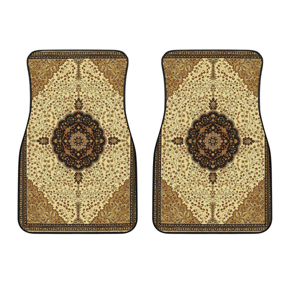 Luxury Oriental Mandala Carpet 10 Front Car Mats