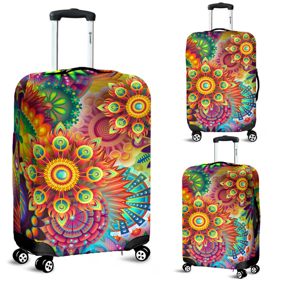 Floral Mandala Luggage Cover