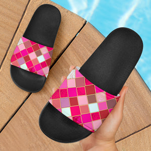 Pink Tiles Magical World Slide Sandals